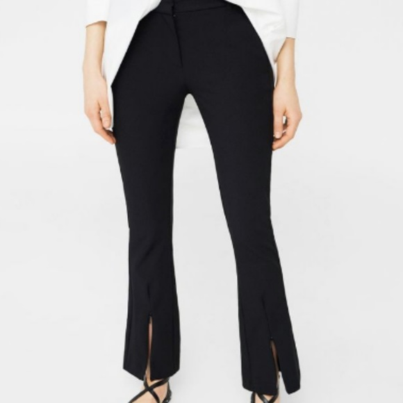 34c9f5c5 Zara Pants | Sale Split Flare | Poshmark